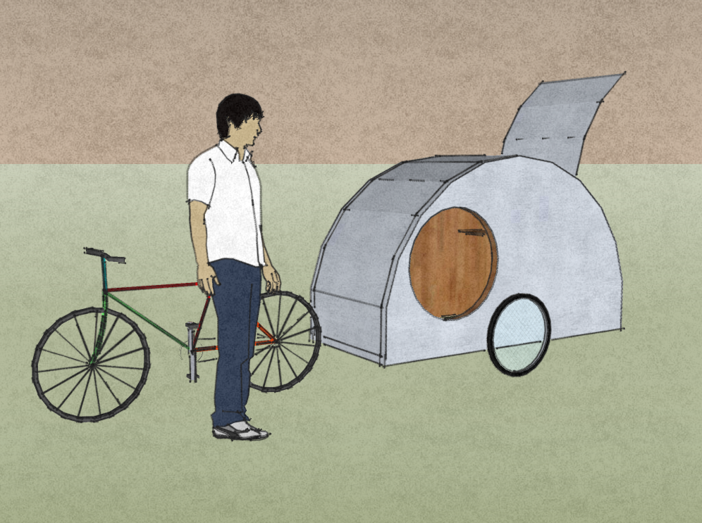 Ultralight Teardrop Trailer – For a Bicycle! – Tiny House Design