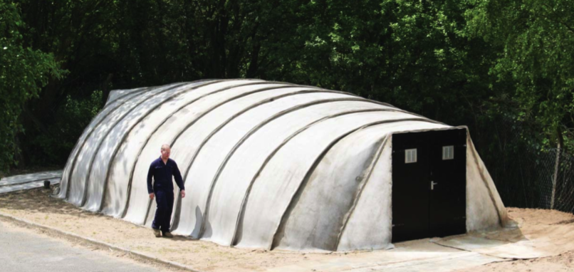 Concrete Canvas Shelters – Just Add Water