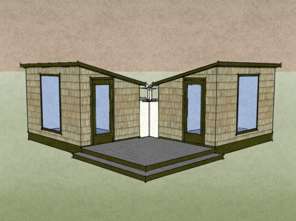 Two Sustainable Sheds
