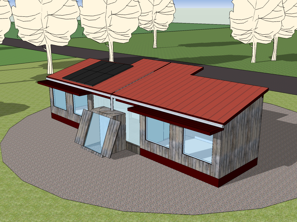 Tiny Dogtrot House - Part 2 – TinyHouseDesign on dog trot cabin plans, north east facing house plans, dog trot cottage plans, ranch house plans, new orleans garden district house plans, cracker style house plans, vintage better homes and gardens house plans, easy dog house plans, southern living house plans, shotgun house plans, insulated dog house plans, breezeway house plans, small house plans, large dog house plans, dog run cabin plans, mid century modern house plans, designer dog house plans, dog run house, diy dog house plans, central passage house plans,