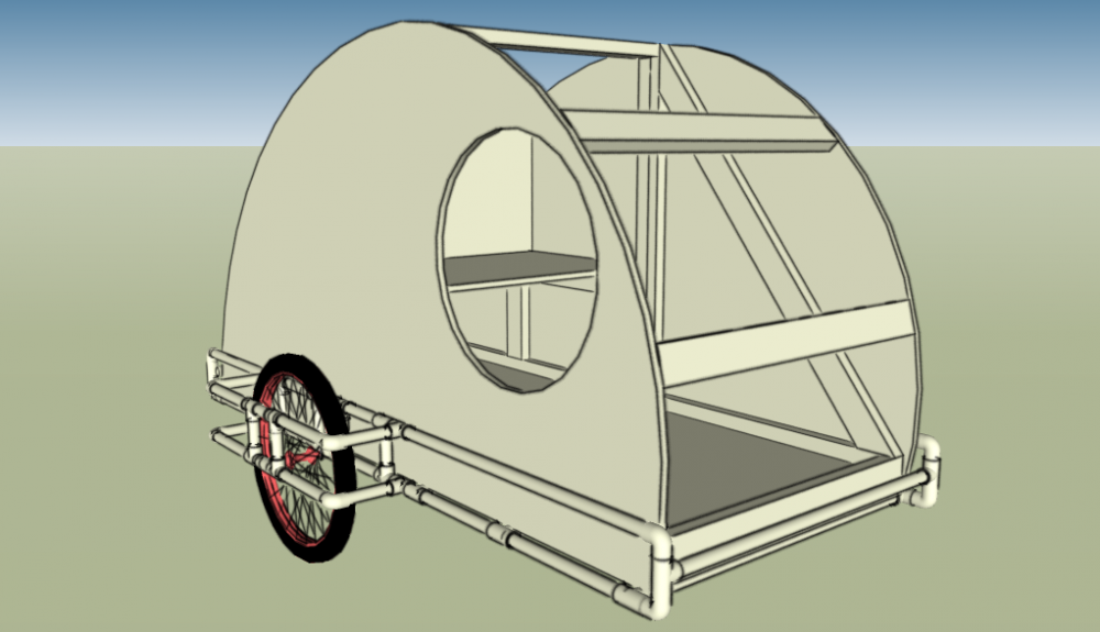 PVC Teardrop Bike Trailer – Tiny House Design