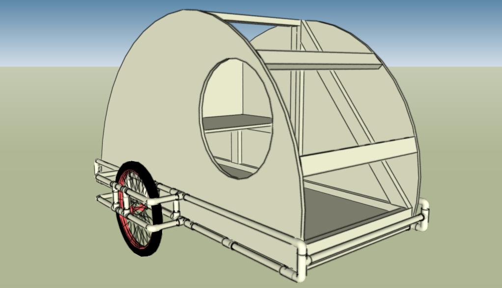 PVC Teardrop Bike Trailer
