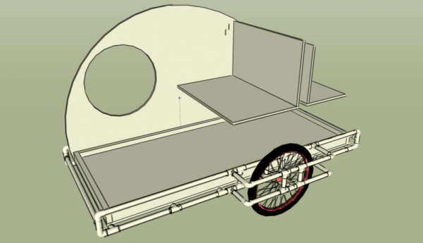 PVC bike teardrop trailer open