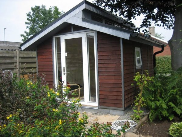 Tool Shed Transformed into tiny house front door