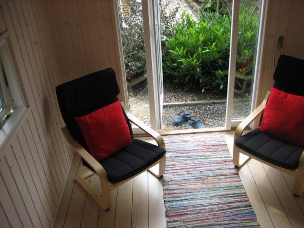 Tool Shed Transforme into tiny house interior entry