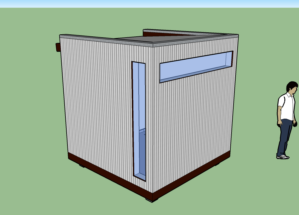 8x8x8 Cube – Backyard Office Concept