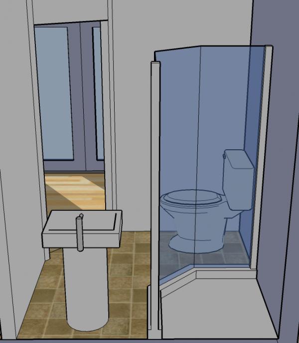 tiny simple house bathroom