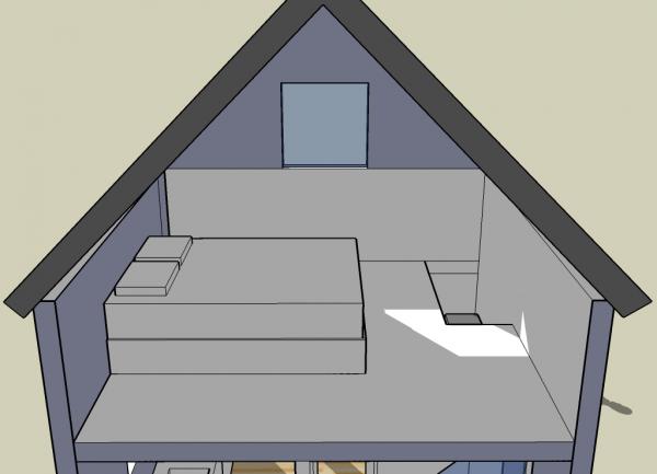 tiny simple house bedroom loft