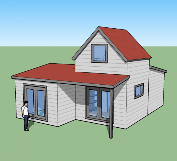 tiny simple house concept front