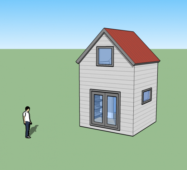 tiny simple house concept simple