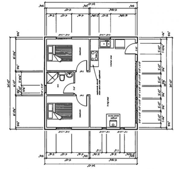24x24 house plan