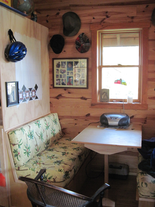 Michael Moore Tiny House Potluck Community Farm dining