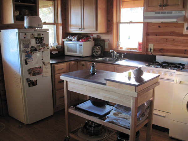 Michael Moore Tiny House Potluck Community Farm kitchen