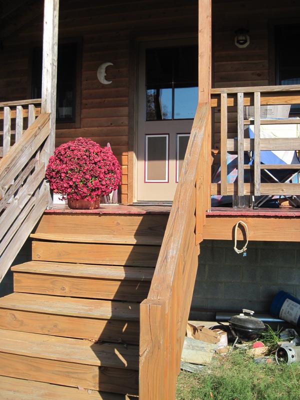 Michael Moore Tiny House Potluck Community Farm porch