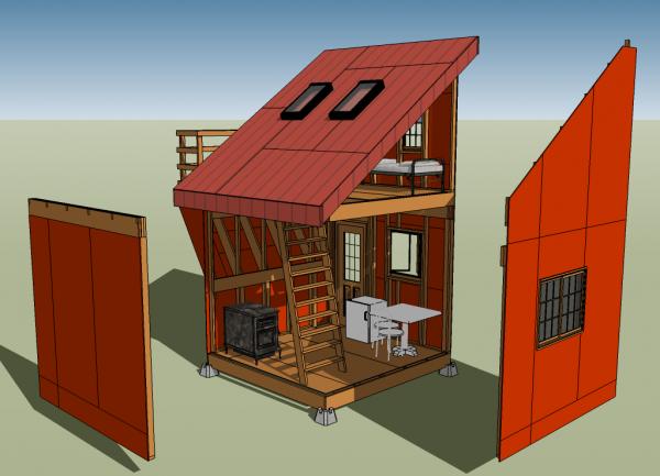 bens tiny house interior