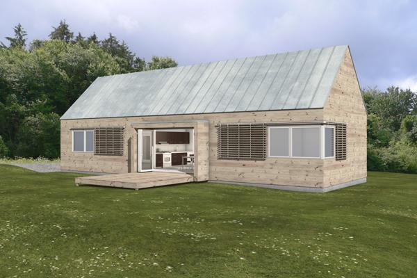 free green modern cabin