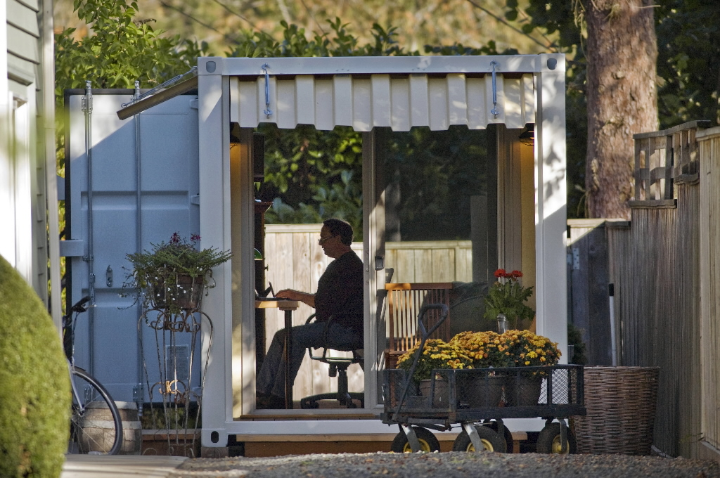 Backyard Shipping Container Office