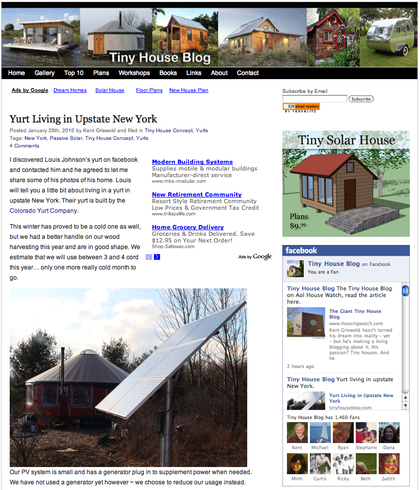 Tiny House Blog featured on Aol Housing Watch