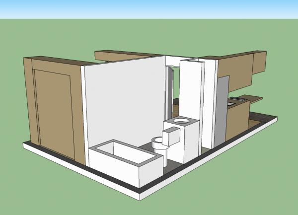 14x20 Cabin - Bathroom