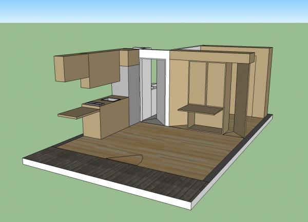 14x20 Cabin - Interior