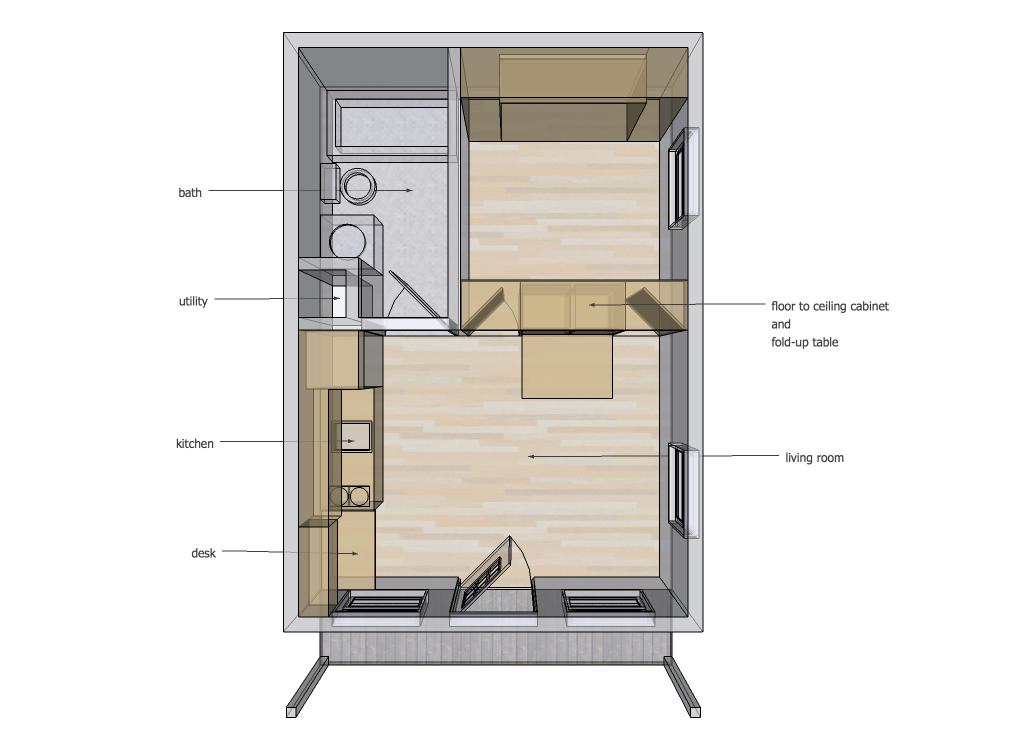 14' x 20' Interior Space Ideas – TinyHouseDesign