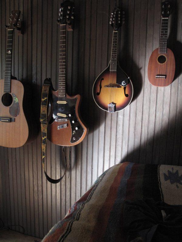 Kim and Jonny's Cabin in the Catskills - Guitars
