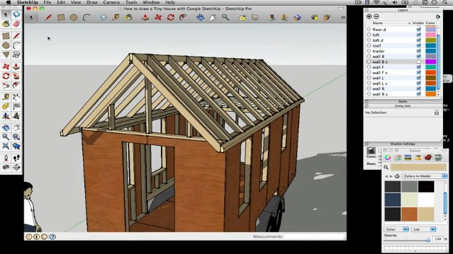 How to draw a Tiny House with Google SketchUp – Part 3 – Tiny House