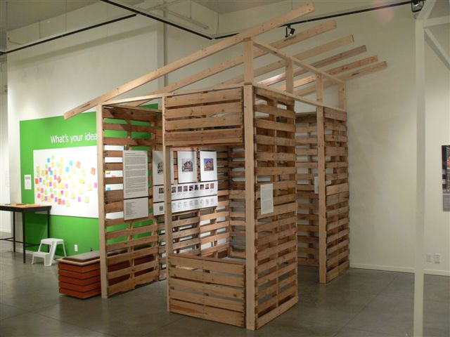 Pallet House Exhibit in Nelson, BC