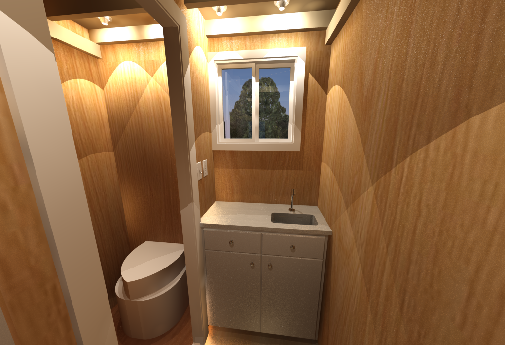 Tiny Home Office - Bathroom
