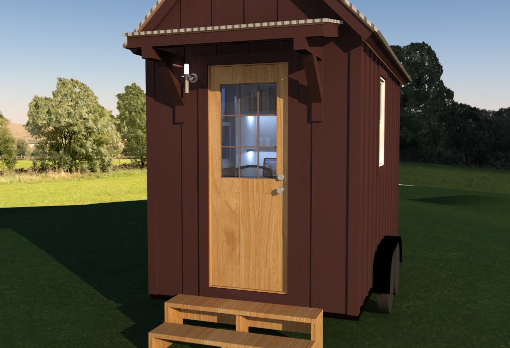 Tiny Home Office - Exterior Detail