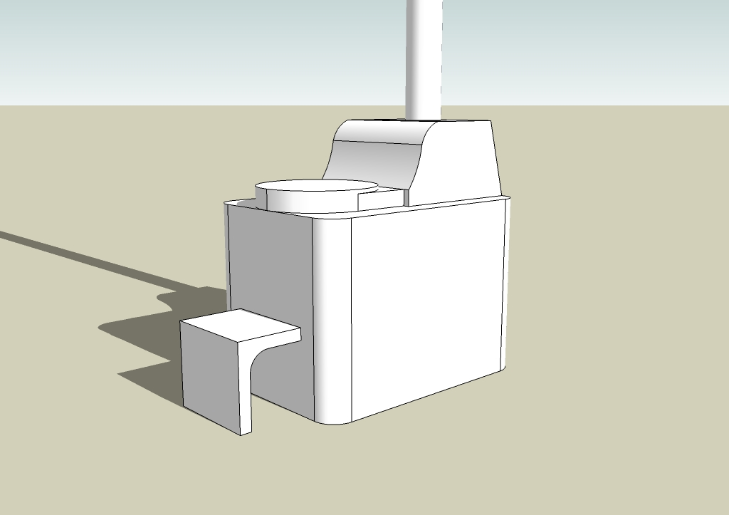 SketchUp Composting Toilet File for Tiny House Drawings