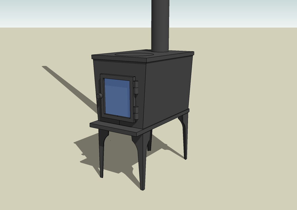 SketchUp Wood Stove File for Tiny House Drawings