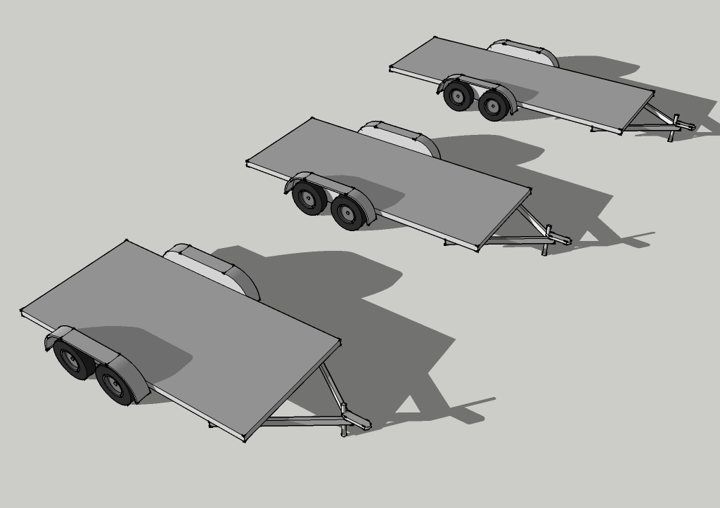 SketchUp Trailers for Tiny House Drawings