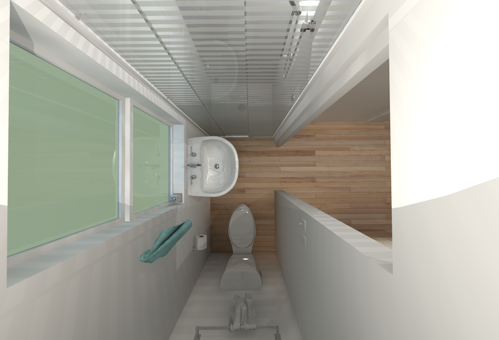 Small House Floor Plans - Bathroom Upstairs from above