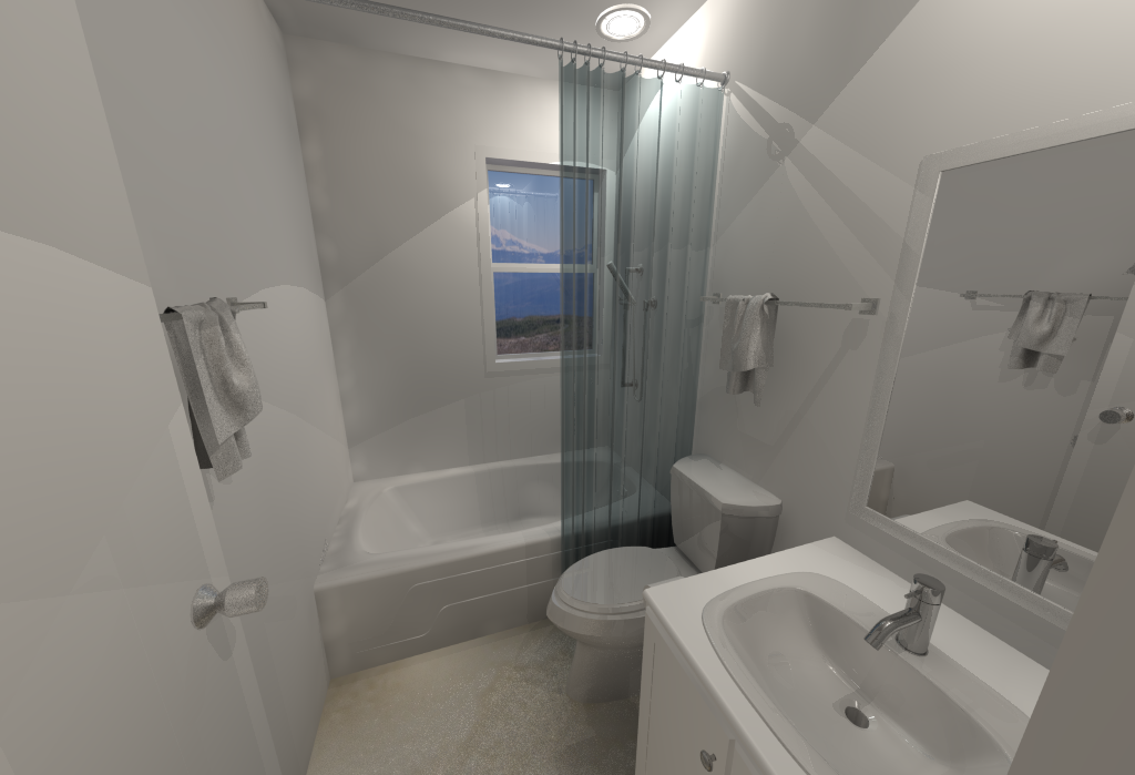 Small House Floor Plans - Downstairs Bathroom