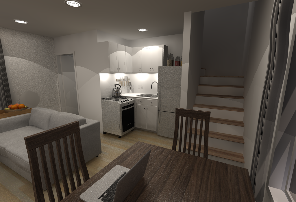 Small House Floor Plans - Living Room and Kitchen