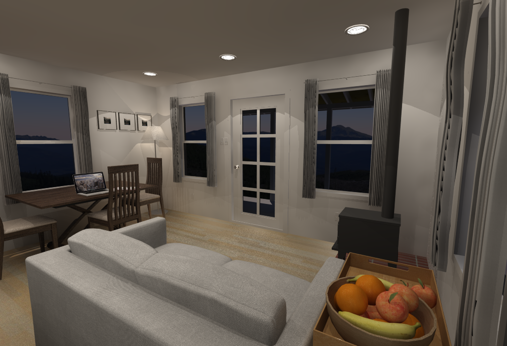 Small House Floor Plans - Living Room