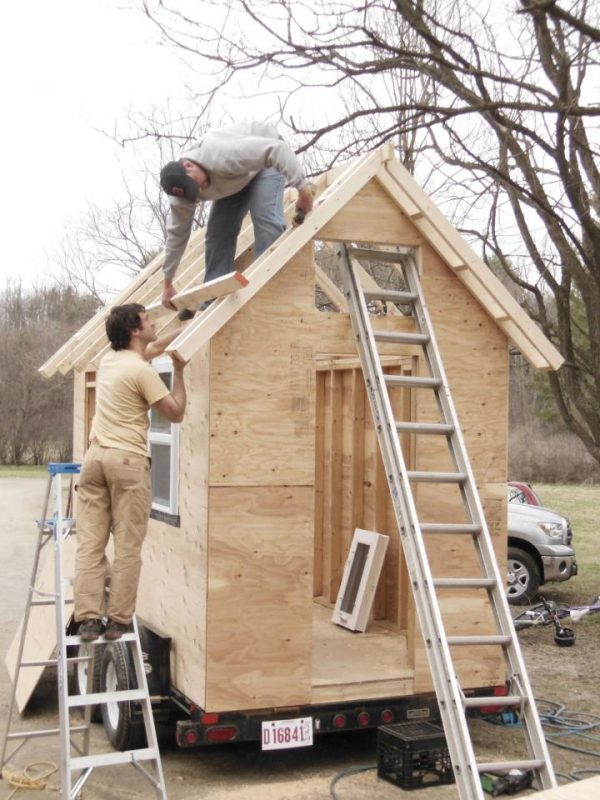 tiny house under construction