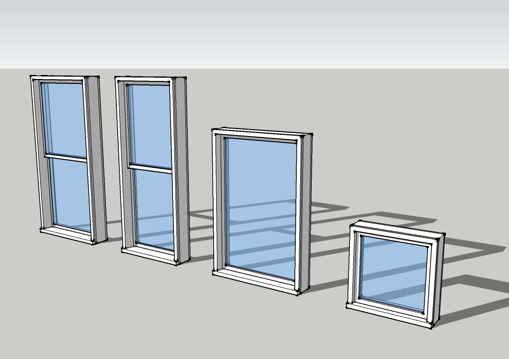 SketchUp Windows for Tiny House Drawings