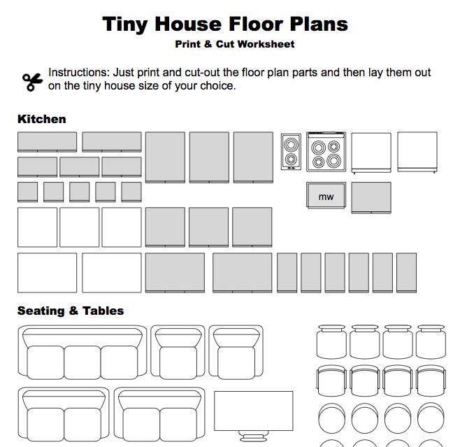 Print & Cut Floor Plan Worksheet