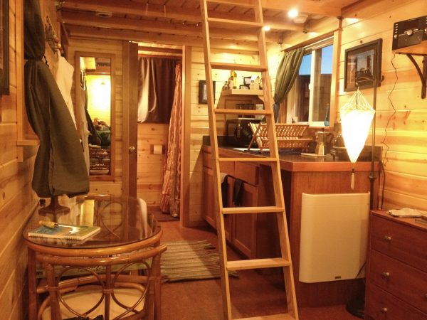 The Tandem Interior - The Tiny House Hotel