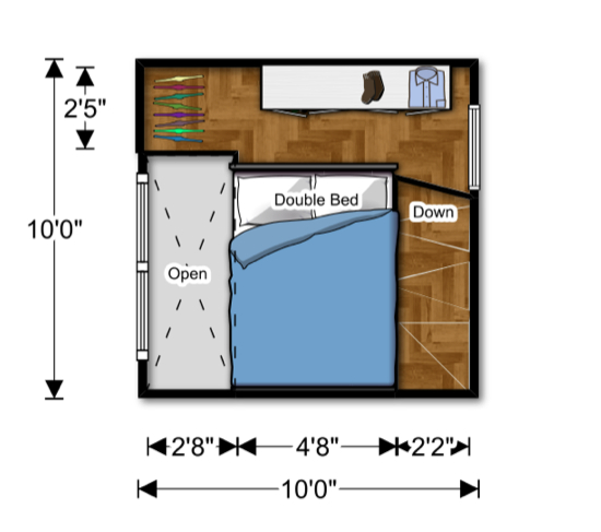 Nomad Micro Homes - Floor Plan Upper Level