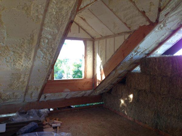 Straw Bale - Upstairs Dormer