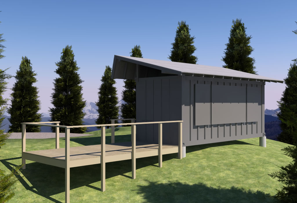 shipping container remote cabin - exterior closed