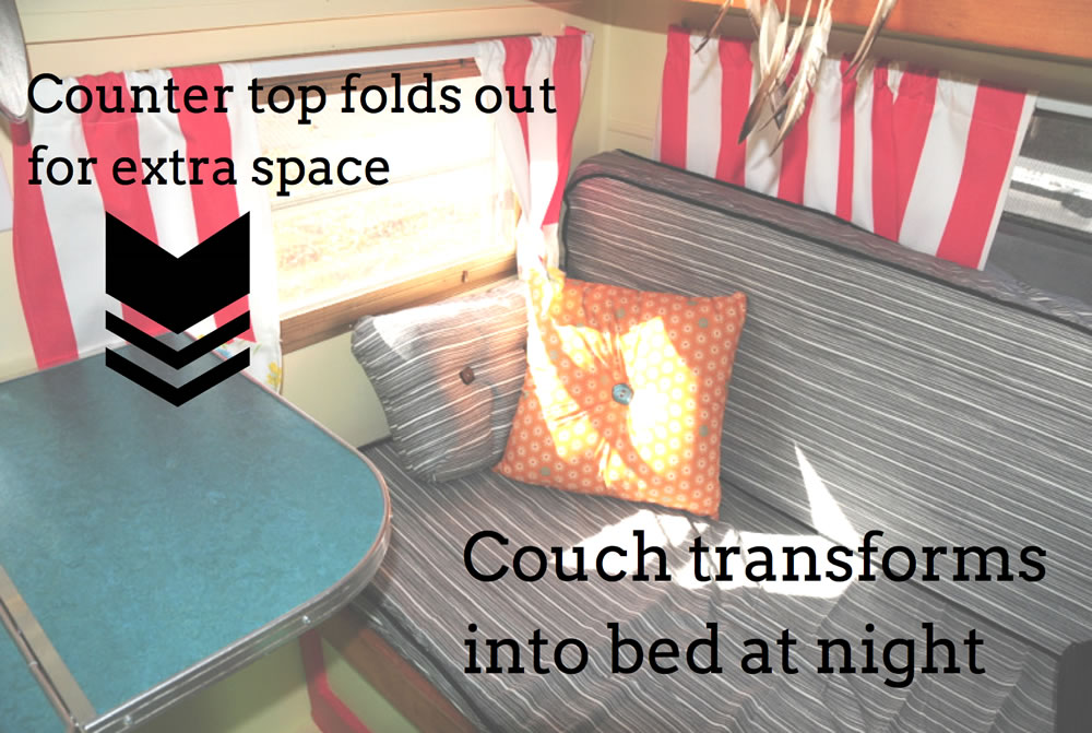 COMET Camper - Transforming Beds