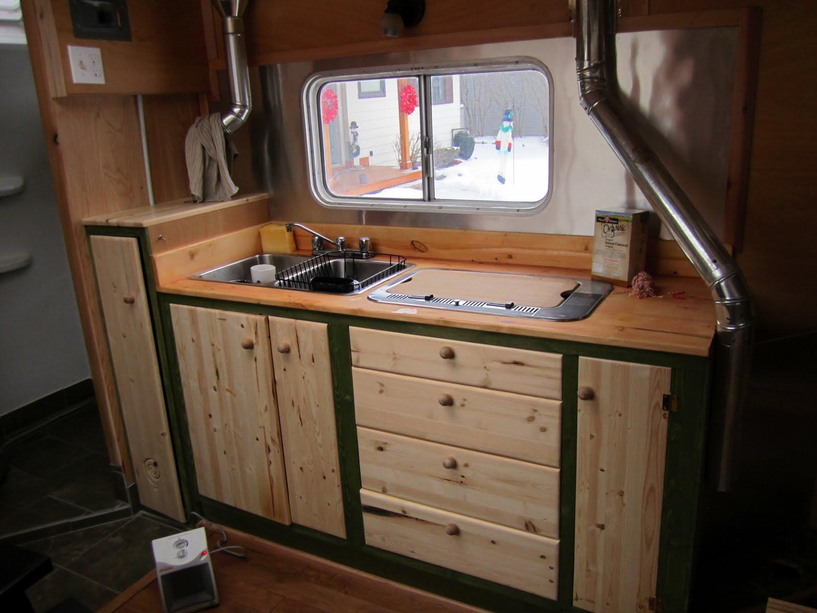Tiny Home Teardrop - Kitchen