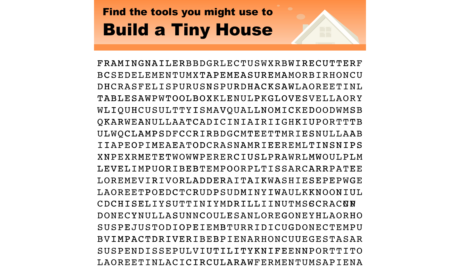 Tools You Might Use to Build a Tiny House