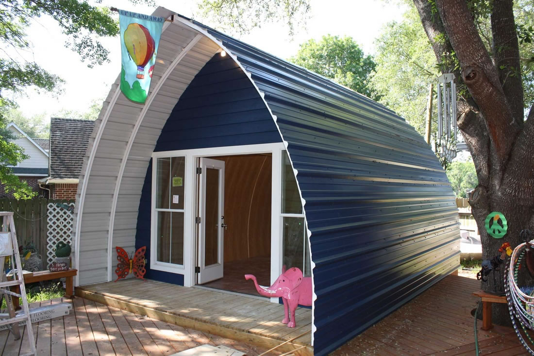 Simple, Affordable, Prefab – Arched Cabins