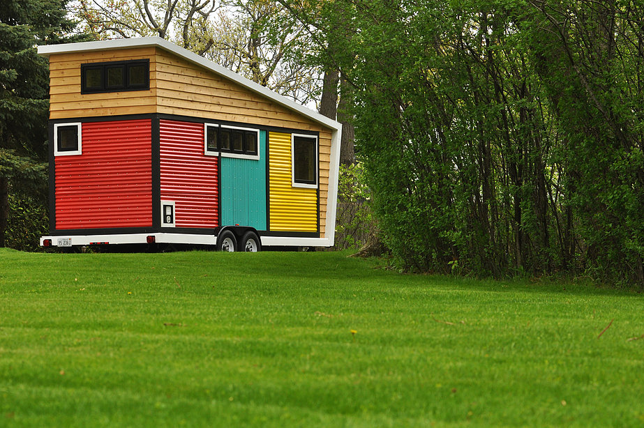 Toybox Tiny Home in a landscape