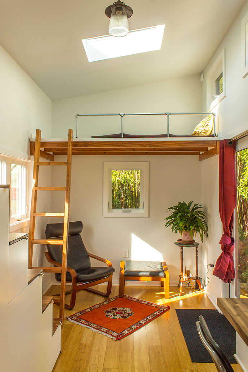 Hikari-Box-Tiny-House-Living-Area-and-Guest-Loft